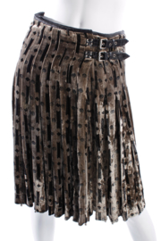 Bottega Veneta Velvet Skirt - brown/black