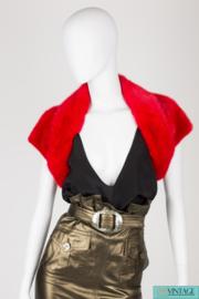 Dolce & Gabbana Fur Bolero - red