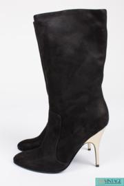 Lanvin Boots - black suede/gold