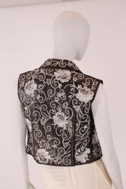 Dolce & Gabbana Sleeveless Vest - black leather/silver sequins