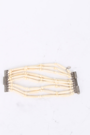 Christian Dior by John Galliano Ivory Coloured Bone Bracelet