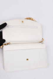 Chanel Vintage WOC Wallet on Chain - white/gold