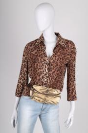 Roberto Cavalli Canvas Belt Bag - brown