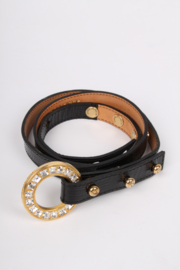 DSQUARED2 Patent Leather Belt - black/gold