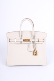 New! Hermes Birkin 25 Calfskin Leather - Beton