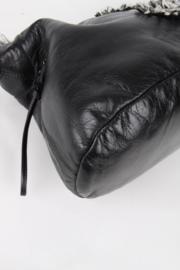 Chanel Bon Bon Funny Black Leather Medium CC Logo Silver Coloured Hardware Shopper Shoulder Hand Bag