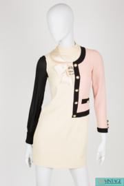 Moschino Cheap and Chic Dress - black/white/pink wool