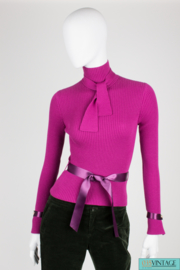 Chanel Turtle Neck Cashmere Sweater - purple