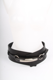 Yves Saint Laurent Leather Belt - black