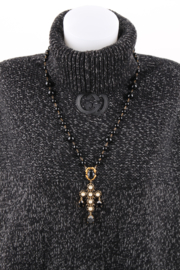 Dolce & Gabbana Cross Necklace - black/gold