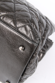 Chanel Calfskin Chain Me Tote Bag - grey metallic