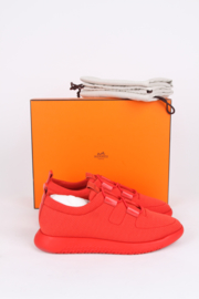 Hermès Spring/Summer 2019 Orange 'Team' Sneakers