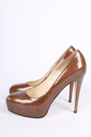 Brian Atwood Patent Leather Pumps - metallic brown