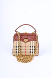Burberry  Vintage Canvas & Leather Shoulder/Crossbody Bag - brown