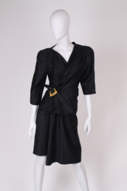 Thierry Mugler Wrap Dress - black