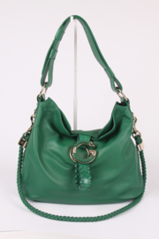 Gucci G Wave Large Hobo Bag - green leather