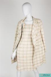 Chanel 2-pcs Suit Jacket & Dress Silk - light blue