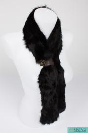 Gucci Fur Scarf - black