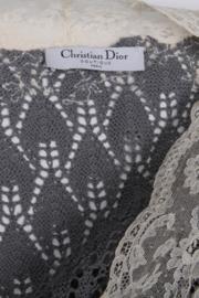 Christian Dior Spring / Summer 1998 silver-coloured crotchet vest