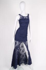 Flavio Castellani Lace Dress - blue