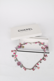 Chanel 2004 Fall/Winter (04P) Pink Silver Sequins Embellished Necklace/Belt