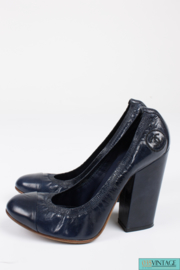 Chanel Pumps - dark blue leather