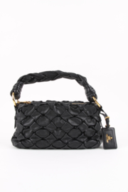 Prada Braided Shoulder Bag - black