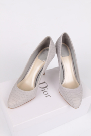 Christian Dior Miss Dior Snakeskin Pump - grey