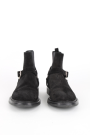 Saint Laurent Black Suede Black Sole High Top Wyatt Boots