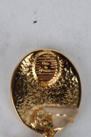 Yves Saint Laurent Gold-Plated Logo Clip-On Earrings