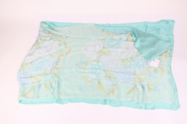 Salvatore Ferragamo Double Layered Silk Scarf XL - flower print