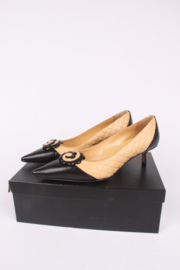 Chanel Camellia Pumps - black & beige