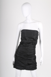 MIU MIU Strapless Dress - black