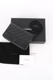 Chanel Timeless Classic Wallet On Chain So Black  2.55 Reissue WOC Shoulder Bag