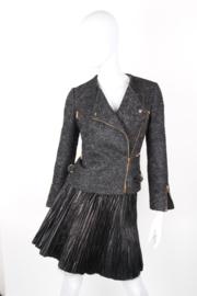 Gucci by Tom Ford asymmetrical tweed biker jacket