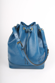 Louis Vuitton Epi Leather Noe Drawstring Shoulder Bag - blue