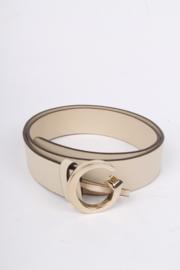 Gucci G Belt - white