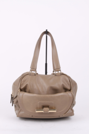 Jimmy Choo Beige Leather Multipocket Justine Handbag