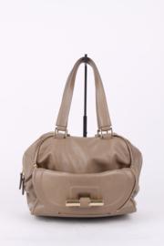 Jimmy Choo Beige Leather Multipocket Justine Handbag