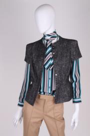 Versace Boucle Jacket - black/white
