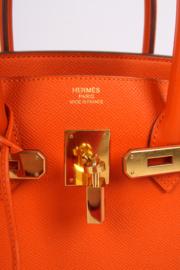 Hermes Birkin Bag Epsom 35 Orange H Gold-tone Hardware - orange