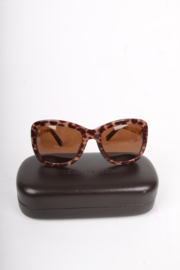 Louis Vuitton Leopard Print Sunglasses - brown/gold