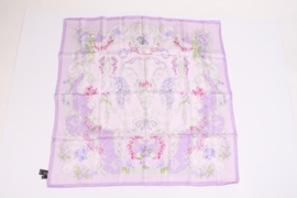 Verace Silk Scarf Flower Print - lilac/purple/pink