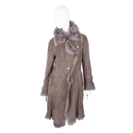 Escada Sport longline grey lammy coat
