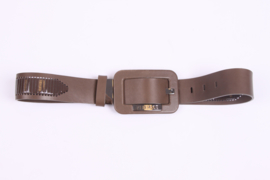 Versace Leather Belt - taupe