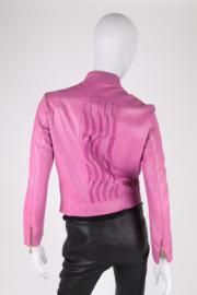 Roberto Cavalli CLASS Leather Jacket - purple