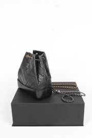 Chanel Quilted Gabrielle Backpack - black