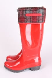 Salvatore Ferragamo Rain Boots - red