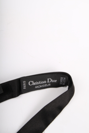 Christian Dior Silk Bow Tie - black