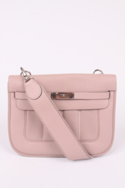 Hermes Berline Shoulder Bag Swift Leather - powder pink